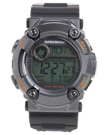 Bad Boy Digital Silicone Strap Watch Grey