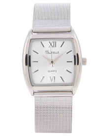 Bad Girl Mesh Strap Square Face Watch