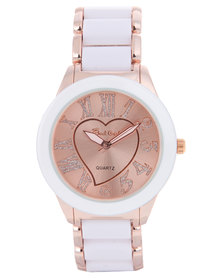 Bad Girl Carmen Rose Gold Heart Watch