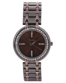 Bad Girl Diamante Trim Bracelet Watch