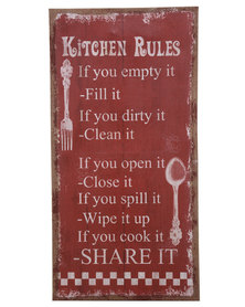 Bali Kitchen Rules Canvas Print