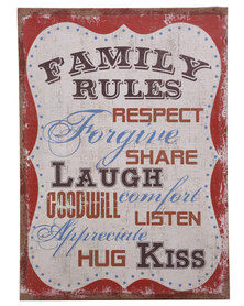 Bali Family Rules Canvas Print