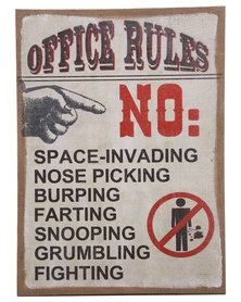 Bali Office Rules Canvas Print