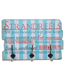 Strandreels Wooden Quote Board With Hooks Multi
