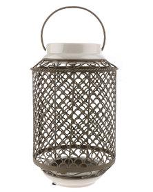 Bali Morrocan Style Candle Lantern Brown