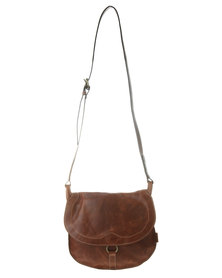 Baobab Dido Cross Body Leather Satchel Brown