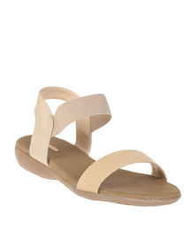 Bata Ladies Slingback Sandals Beige
