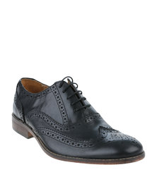 Bata Rhino Leather Formal Lace Up Shoe Black