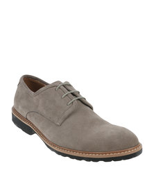 Bata Rhino Leather Casual Lace Up Shoe Grey