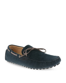Bata Casual Slip-On Shoes Navy