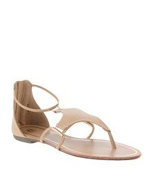 Bata Ladies Ankle Strap Sandals Cream