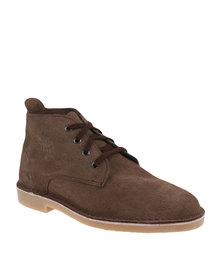 Bata Safari Mens Leather Boot Brown
