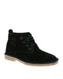 Bata Safari Mens Leather Boot Black