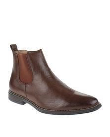 Bata Dhani Slip-On Boots Brown