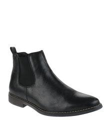 Bata Dhani Slip-On Boots Black
