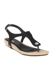 Bata Ladies Slingback Sandals Black