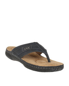 Bata Mens Slip-On Sandals Navy
