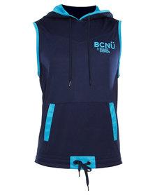 BCNU Freestyle Tank Hoodie Blue