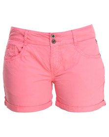 Being Human Woven Shorts Pink
