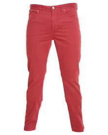 Being Human Woven Chinos Red