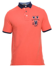 Being Human Knitted Polo Tee Orange