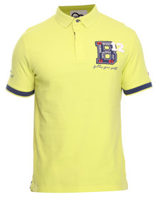 Being Human Knitted Polo Tee Yellow