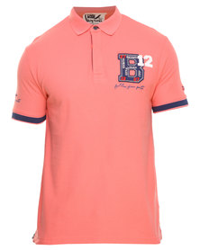 Being Human Knitted Polo Tee Pink