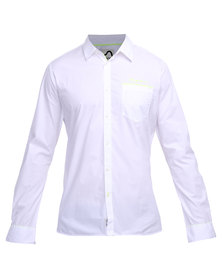 Being Human Woven Long Sleeve Shirt White