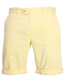 Being Human Woven Non Denim Shorts Yellow