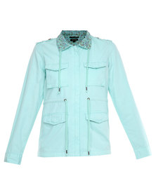 Being Human Woven Jacket Mint