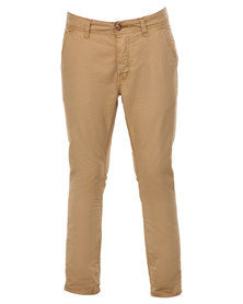Being Human Woven Chino Pants Stone