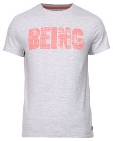 Being Human Knitted Crew Neck T-Shirt Grey