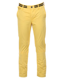 Being Human Woven Chino Pants Yellow