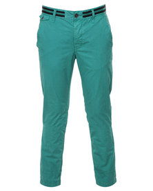Being Human Woven Chino Pants Light Green