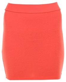 Betty Basics Kylie Mini Skirt Coral