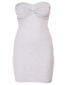 Betty Basics Serena Tube Dress Grey