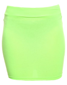 Betty Basics Kylie Mini Skirt Neon Lime