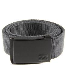 Billabong Cog Webbing Belt Charcoal