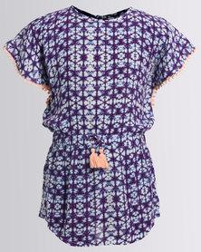 Billabong Kaleidoscope Dress Purple