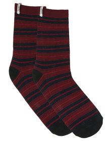 Billabong Stripe Socks Red