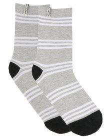 Billabong Stripe Socks Grey