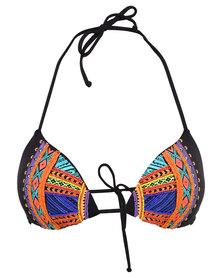 Billabong Zanzibar Triangle Beading Bikini Top Multi