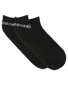 Billabong Plain Ankle Socks Black