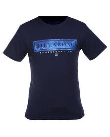 Billabong Blocker Tee Navy Blue