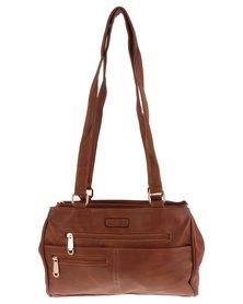 Blackcherry Bag Zip Front Organiser Bag Tan