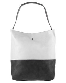 Blackcherry Colourblock Tote Bag Black/White