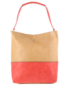 Blackcherry Colourblock Tote Bag Multi