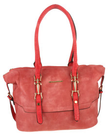 Blackcherry Bag Crock Trimmed Handbag Coral
