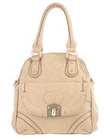 Blackcherry Front Pocket Detail Bag Beige