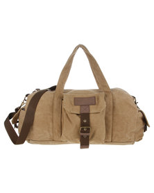 Blackchilli Canvas Duffle Bag Khaki